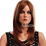 Hsg New Arrival Wigs Hair Sweet Elegant Long Shoulder Length Wavy Brown Curly Wigs For Women