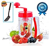 Batter Dispenser for Pancake Waffle Cake Cupcake Muffin Crepes Perfect Donuts Includes Bonus Gift with Easy Pull Trigger Manual Mixer Pour with Measuring Label