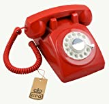☬  Red GPO 1970s Vintage Retro Telephone - reproduction phone