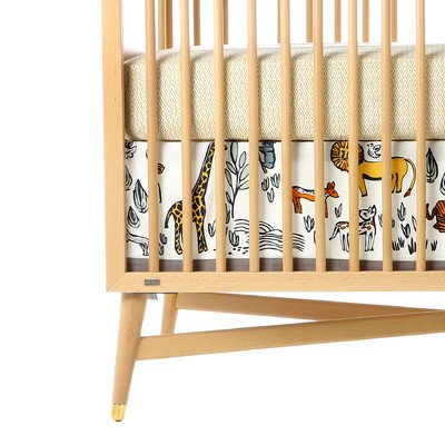 DwellStudio Canvas Crib Skirt, Safari