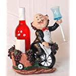 Chef wine bottle & wine holder w/ grape basket 12.5″