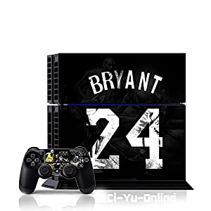 Ci-Yu-Online VINYL SKIN [PS4] Kobe Bryant 24 #2 Whole Body VINYL SKIN STICKER DECAL COVER for PS4 Playstation 4 System Console and Controllers - Kobe 24 #2