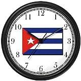 Flag of Cuba - Cuban Theme Wall Clock by WatchBuddy Timepieces (Slate Blue Frame)