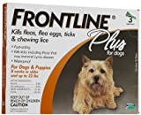Frontline Plus Dog 0-22 lb - 3 doses (Quantity of 1)