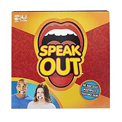 Speak Out Game, Family Party Game, the Hilarious Adult Phrase Card Game, Mouth Guard Challenge Game