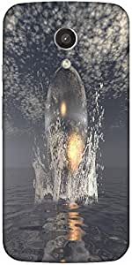 Snoogg Surrealistic Designer Protective Back Case Cover For Motorola G 2Nd Ge...