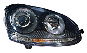 Depo 341-1124R-USH3 Volkswagen Passenger Side Replacement Headlight Unit without Bulb