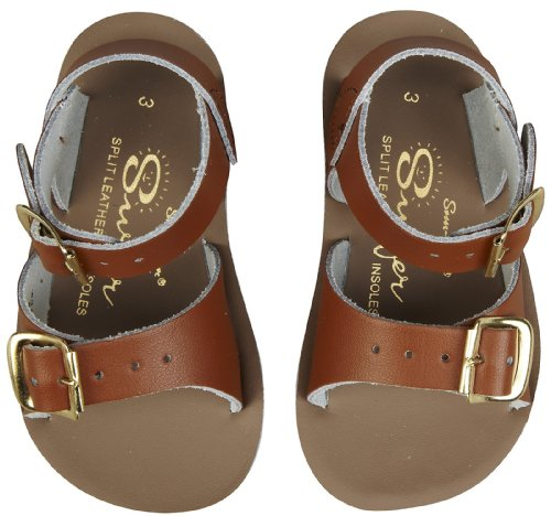 Salt Water Sandals By Hoy Shoe 1700-1705,Tan,7 M Us Toddler front-417294