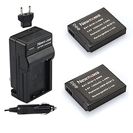 Newmowa-DMW-BCM13-Battery-(2-Pack)-and-Charger-kit-for-Panasonic-DMW-BCM13,-DMW-BCM13E,-DMW-BCM13PP-and-Panasonic-Lumix-DMC-FT5,-DMC-LZ40,DMC-TS5,-DMC-TZ37,-DMC-TZ40,-DMC-TZ41,-DMC-TZ55,DMC-TZ60,DMC-ZS27,-DMC-ZS30,DMC-ZS35,DMC-ZS40