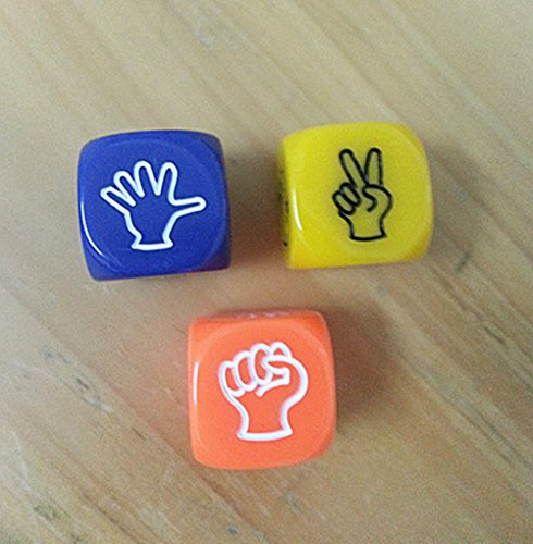 3 X Rock Paper Scissors Dice Game Hen Party Novelty Gift