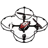Holy Stone Mini RC Drone with LED Light 4 CH 6-Axis 2.4 GHz Gyro RC Quadcopter Color Red