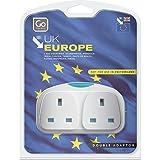 Design Go Adaptor Duo Plug Adapter (UK - EU)