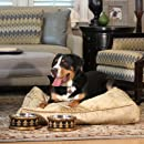 Unleashed Life Velvet Louis Collection Dog Bed, Medium
