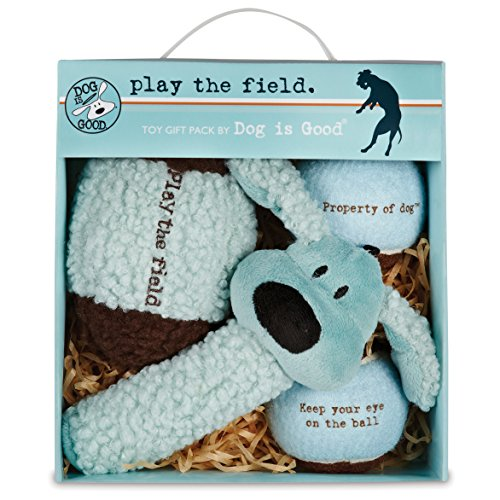 Dog Is Good 4 Piece Play The Field Toy Gift Pack Toy (Puppy Football compare prices)