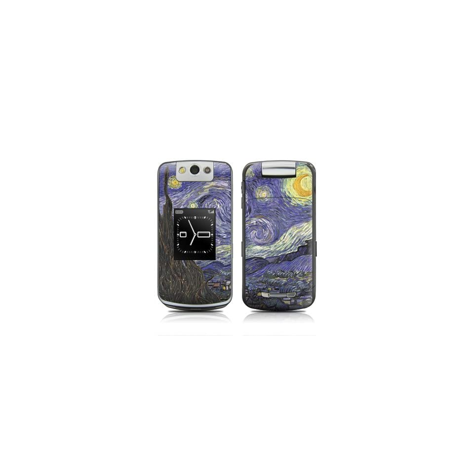 Van Gogh   Starry Night Design Protective Decal Skin Sticker for Blackberry Pearl Flip 8220 Cell Phone