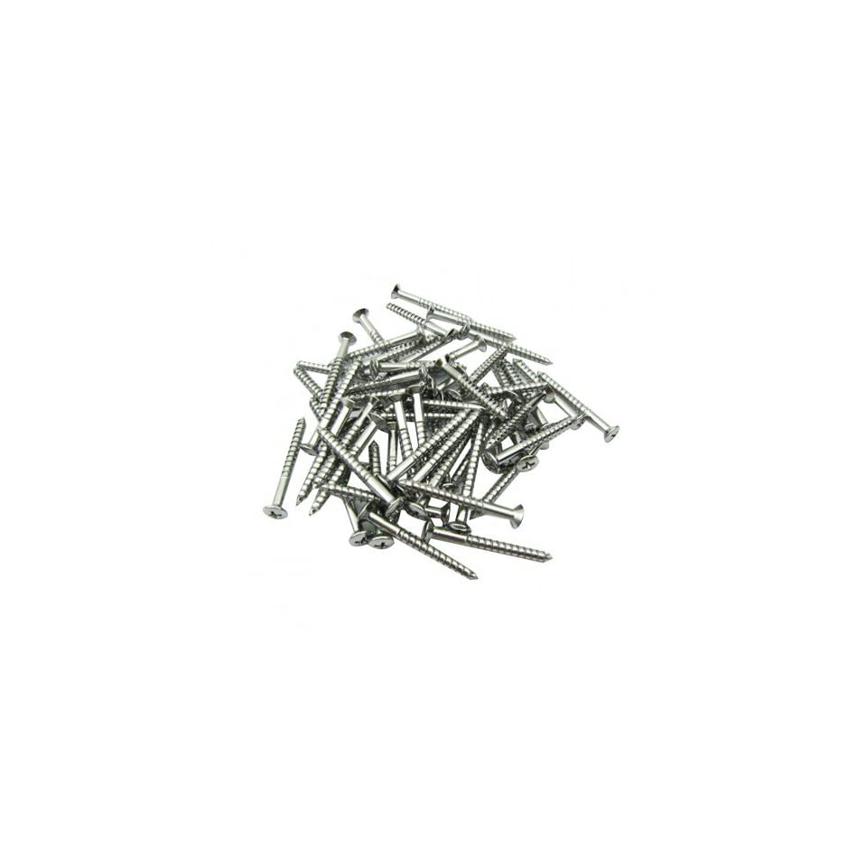 Musiclily 5mm Guitar Neck Plate Screw for Fender Strat ST Style, Silver (Pack of 10)