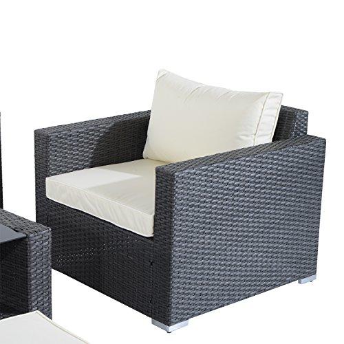 Wicker Sofa For Sale Uk: Outsunny Garden Rattan Furniture 7 PCs Sofa Set Patio