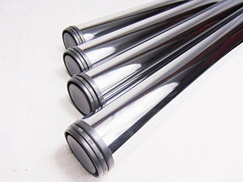 4x-GedoTec-Chrom-Tischbein-Tischfuss-Mbelfu-Verstellfu-Stahl-Hhe-710-mm-30-mm-hhenverstellbar--60-mm-inkl-Befestigungsmaterial