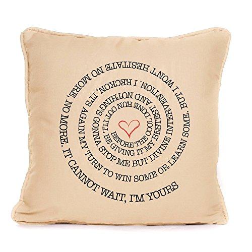 Jason Mraz Im Yours Song Lyrics Cushion Wedding Anniversary Valentines Day Gift SWIRL
