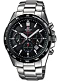 Casio EFR-518SB-1AVEF Edifice Men's Quartz Watch with Black Dial Analogue Display and Silver Stainless Steel Bracelet