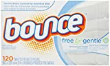 BOUNCE FREE AND GENTLE TUMBLE DRYER SHEETS 120 SHEETS