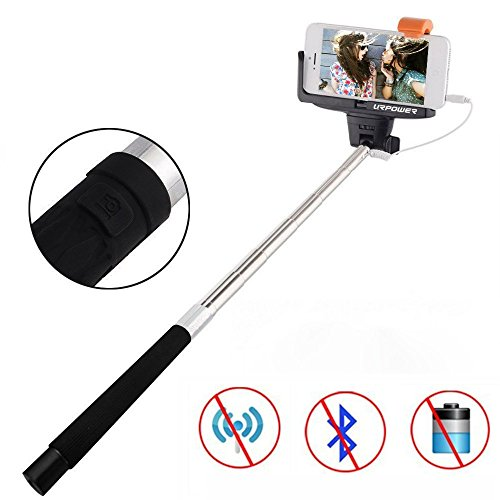 selfie stick urpower extendable wireless cable control self portrait monopod with remote. Black Bedroom Furniture Sets. Home Design Ideas