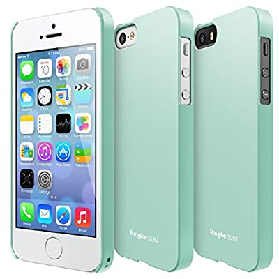Apple iPhone 5 / 5S Case - Ringke SLIM Case [Free HD Film/Better Grip] Premium Dual Coated Hard Case Cover from Ringke