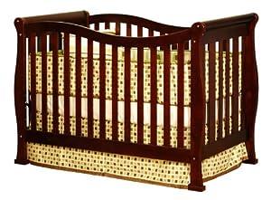 Athena Nadia 3 in 1 Crib with Toddler Rail, Cherry