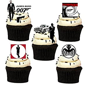 33 stand up james bond 007 themed edible wafer paper cake for 007 decoration ideas