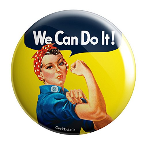 Geek Details Rosie the Riveter World War II 2.25″ Pinback Button