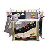 Littlekittens - My Favorite Vehicles - Crib Bedding Set (4 Pcs)