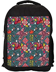 """Snoogg Multicolor Butterfly Casual Laptop Backpak Fits All 15 - 15.6"""" Inch Laptops - B01C8JV0TK"""