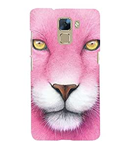 Vizagbeats pink lion Back Case Cover for Huawei Honor 7