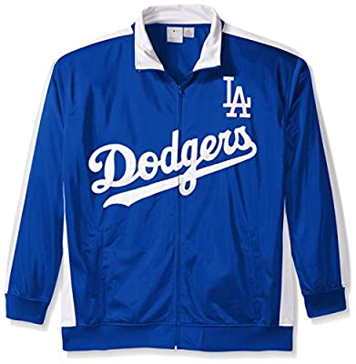 MLB Men's Big and Tall Tricot Poly Track Jacket