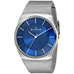 "Skagen Men's SKW6068 ""Havene"" Silver-Tone Stainless Steel Watch with Mesh Band"