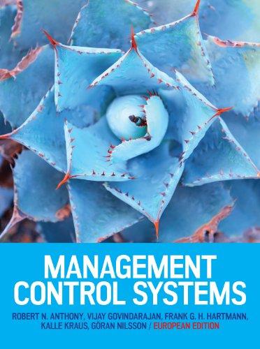 Management control systems. European edition (Economia e discipline aziendali)