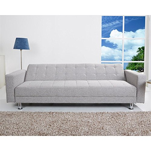Gold Sparrow Frankfort Convertible Sectional Sofa Bed Ash