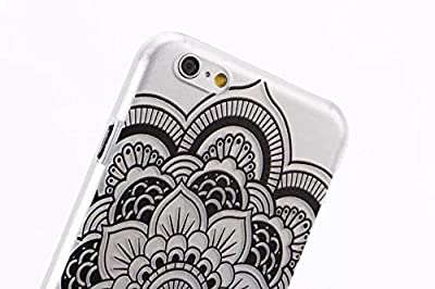 iPhone 6 Case, LUOLNH Henna Full Mandala tribal dream catcher mayan aztec Hard Plastic Clear Case Silicone Skin Cover for Apple Iphone 6 4.7 inch Screen by LUOLNH
