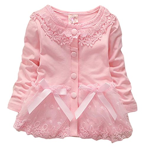 Baby Girls Spring Autumn Winter Baby Coat Jackets Cardigan 0-6Months Pink