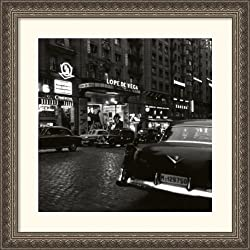 Cine en la Gran Via Framed Print by Catala-Roca Framed