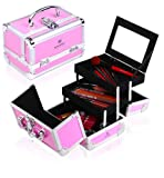 Shany Cosmetics Pink Mania Makeup Train Case with Mirror, 48 Ounce