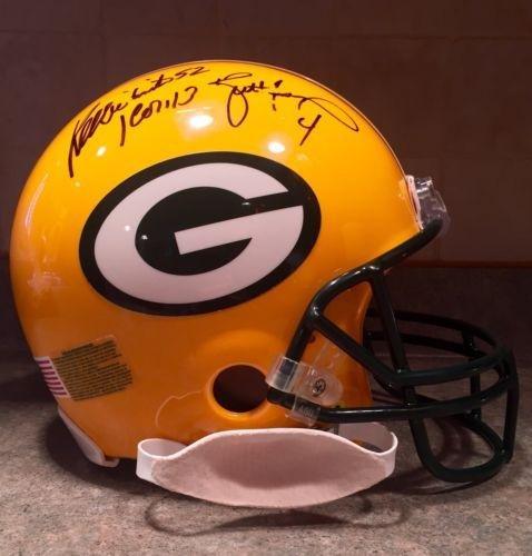 Reggie White Holmgren Brett Favre Game Model Signed Packers Pro Football Helmet - Autographed NFL Helmets