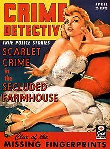 MAGAZINE COVER CRIME DETECTIVE TRUE POLICE STORIES WOMAN DAGGER USA 30X40 CMS FINE ART PRINT ART POSTER BB7953