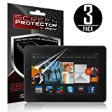 Skque® 3 Pcs Anti Scratch Screen Protector for Amazon Kindle Fire HDX 7