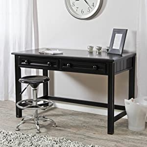 Casey Writing Desk - Black by Fashion Bed Group