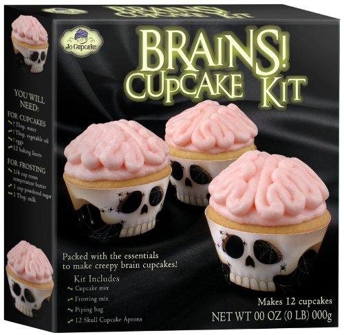Halloween Brains Cupcake Kit