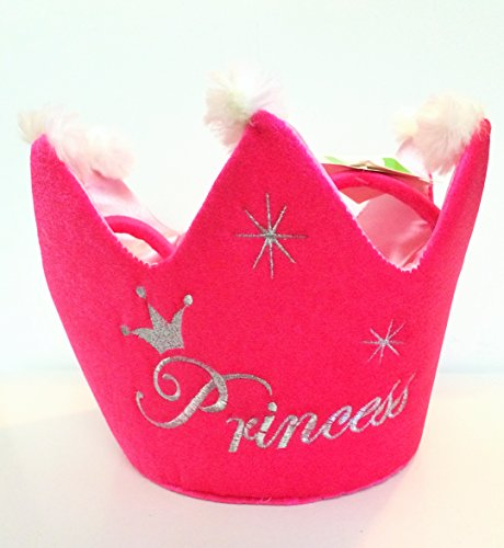 Hot Pink Princess Crown Basket for Candy - 1