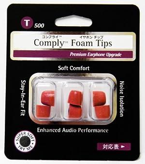 Comply (コンプライ) イヤホンチップ T-500 レッド Mサイズ (3ペア)