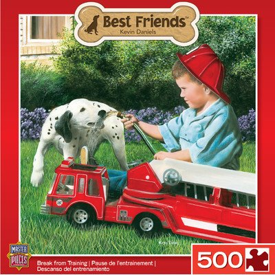 MasterPieces Best Friends Break from Training Jigsaw Puzzle, 500-Piece