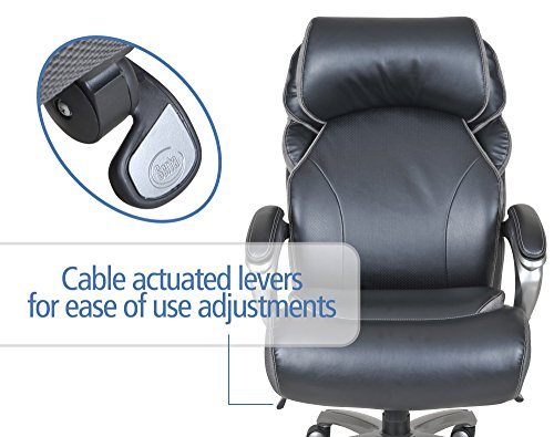 serta big and tall smart layers tranquility executive office chair with air technology black - Serta Executive Office Chair